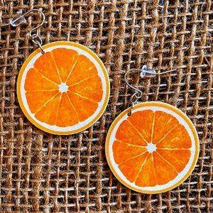 Slice of Orange earrings NEW